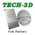 Pole markers -